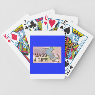 """""""Massachusetts 4 Life"""" State Map Pride Design Bicycle Playing Cards"""