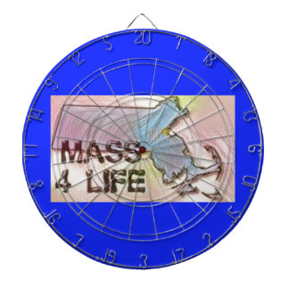 """Massachusetts 4 Life"" State Map Pride Design Dart Boards"