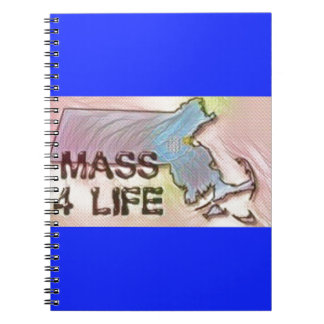 """Massachusetts 4 Life"" State Map Pride Design Notebooks"