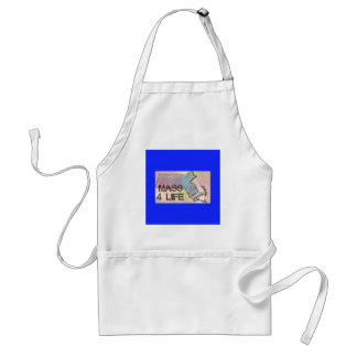 """Massachusetts 4 Life"" State Map Pride Design Standard Apron"