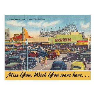 Massachusetts Amusement Center, Salisbury Beach Postcard