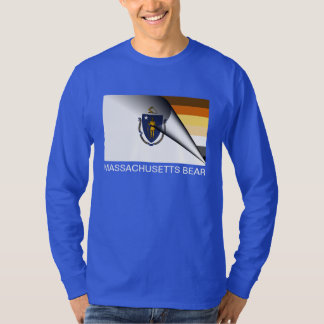Massachusetts Bear Pride Flag T-Shirt