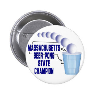 Massachusetts Beer Pong Champion Buttons