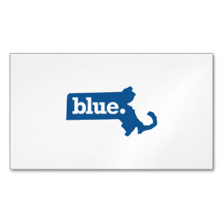 MASSACHUSETTS BLUE STATE MAGNETIC BUSINESS CARDS