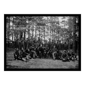 Massachusetts Cavalry at Petersburg, VA 1864 Poster