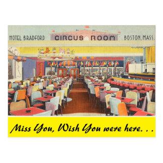 Massachusetts, Circus Room, Boston Post Card