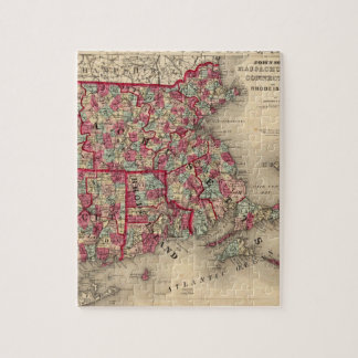 Massachusetts, Connecticut, and Rhode Island Jigsaw Puzzle