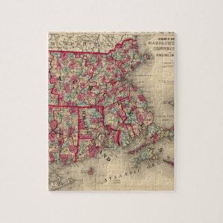 Massachusetts, Connecticut, and Rhode Island Jigsaw Puzzle