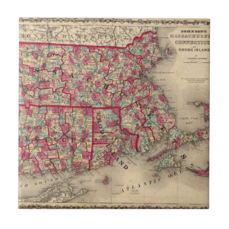 Massachusetts, Connecticut, and Rhode Island Small Square Tile