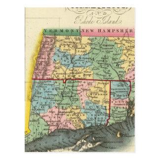 Massachusetts, Connecticut, Rhode Island Postcard