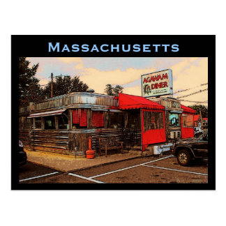 Massachusetts Diner Postcard
