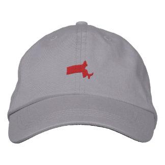 Massachusetts Embroidered Baseball Caps