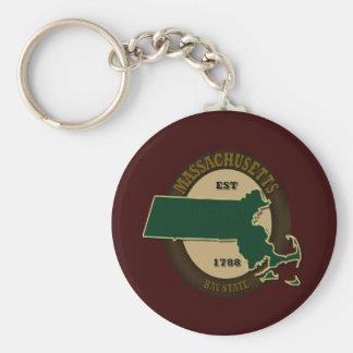 Massachusetts Est 1788 Key Ring