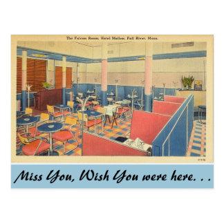 Massachusetts Falcon Room, Fall River Postcard