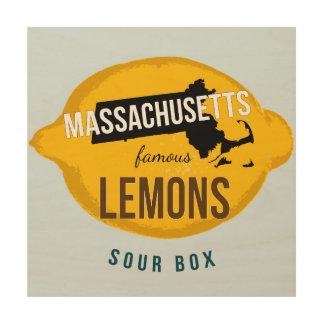 Massachusetts Famous Lemons Wooden Wall Art