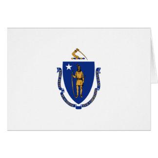 Massachusetts Flag Greeting Card