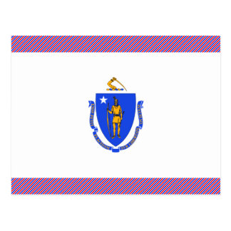 Massachusetts Flag Postcard