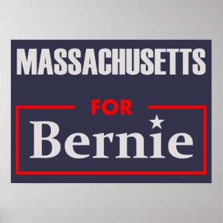 Massachusetts for Bernie Poster