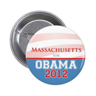 MASSACHUSETTS for Obama 2012 Pinback Buttons
