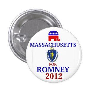 Massachusetts  for Romney 2012 3 Cm Round Badge