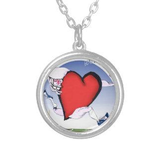 massachusetts head heart, tony fernandes silver plated necklace