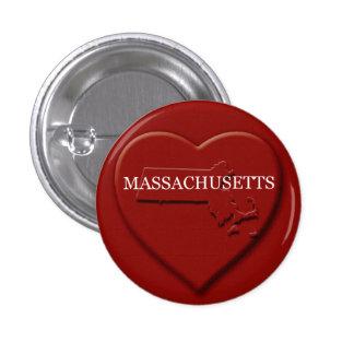 Massachusetts Heart Map Design Button