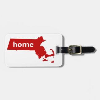 Massachusetts Home Luggage Tag