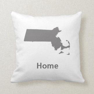 Massachusetts Home Throw Pillow