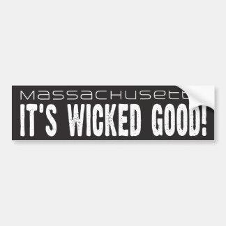 Massachusetts, It's Wicked Good! bumper sticker