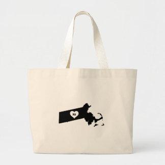 Massachusetts Love Large Tote Bag