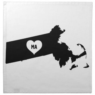Massachusetts Love Napkin