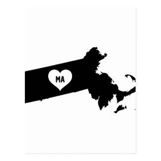 Massachusetts Love Postcard