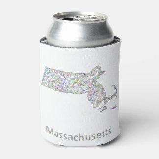 Massachusetts map can cooler