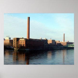 Massachusetts Mills on the Merrimack Poster