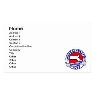Massachusetts Mitt Romney Pack Of Standard Business Cards