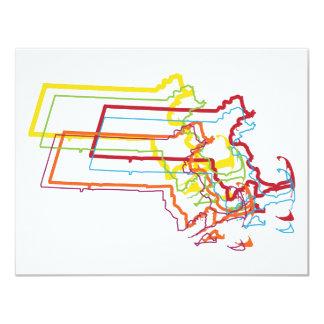 massachusetts pride blur 11 cm x 14 cm invitation card
