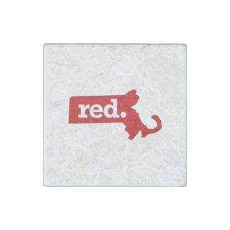 MASSACHUSETTS RED STATE STONE MAGNET