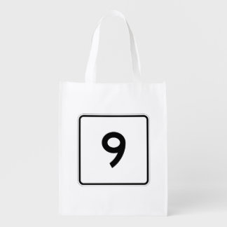 Massachusetts Route 9 Reusable Grocery Bag