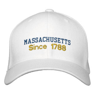 Massachusetts Since 1788 Cap Embroidered Baseball Caps