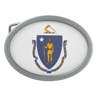 Massachusetts State Flag Design Belt Buckles