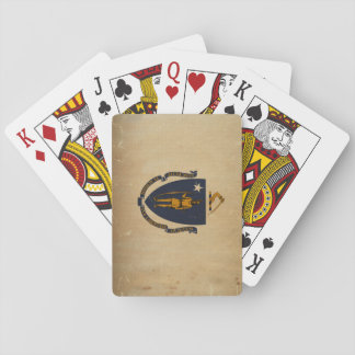Massachusetts State Flag VINTAGE.png Playing Cards
