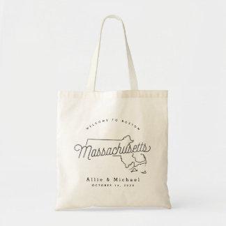 Massachusetts Wedding Welcome Tote Bag