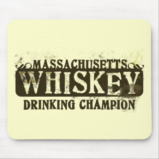 Massachusetts Whiskey Drinking Champion Mouse Pad