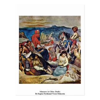 Massacre At Chios (Study) Postcard