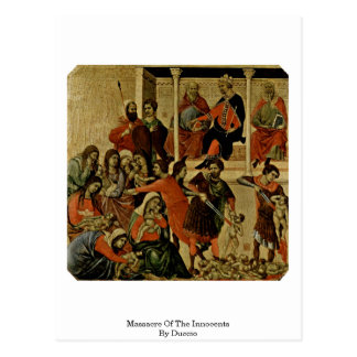 Massacre Of The Innocents By Duccio Postcard