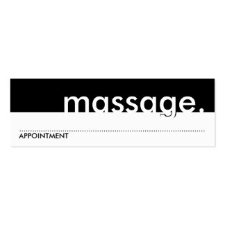 massage. (appointment card) business card templates