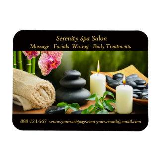Massage Bamboo Orchid Stones Candle Rectangular Photo Magnet