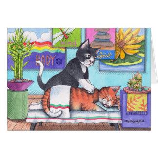 Massage Cats (Bud & Tony) Notecard