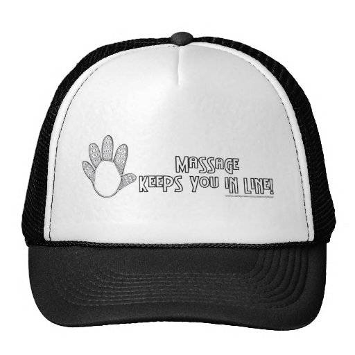 Massage Keeps You In Line Mesh Hats
