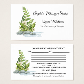 Massage Spa Watercolor Appointment Business Card